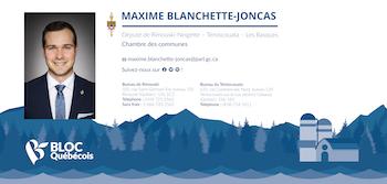 Photo de Maxime Blanchette-Joncas, député